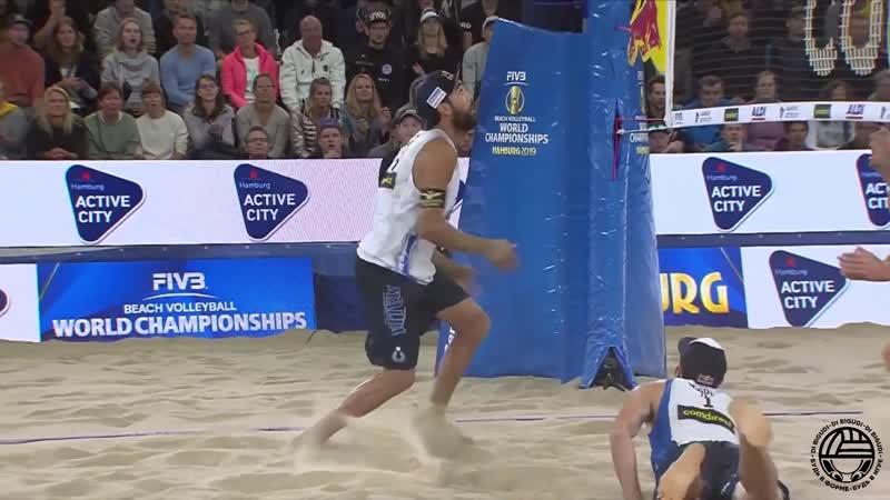 Mol-Sorum vs Nicolai-Lupo - Четвертьфинал | Чемпионат мира по пляжному волейболу в Гамбурге 2019