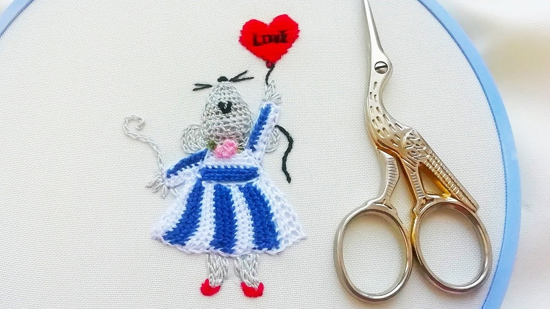 Mouse 3D Embroidery 3D idea for embroidery Buttonhole Filling