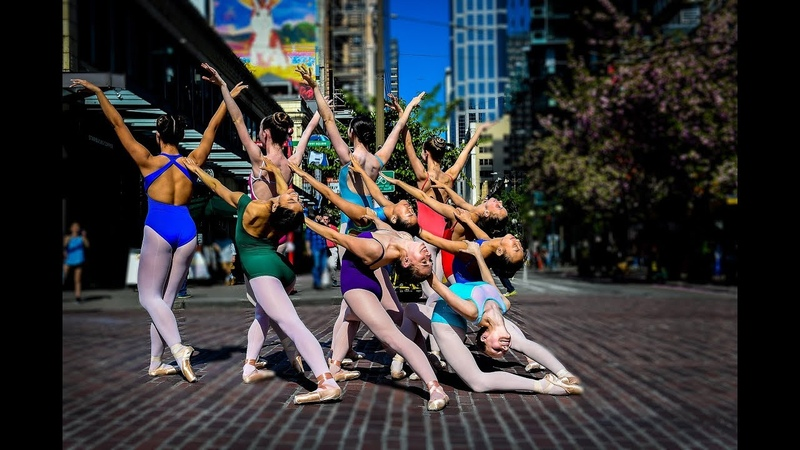 Ten Ballerinas in a Chaotic 10 Minute Photo Challenge at Seattles Pike Place Market