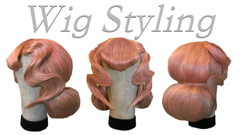 Wig Styling Tutorial. Pink Drag Hair !