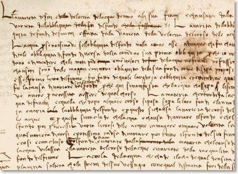 Почерк Леонардо да Винчи раскрывает его тайны.