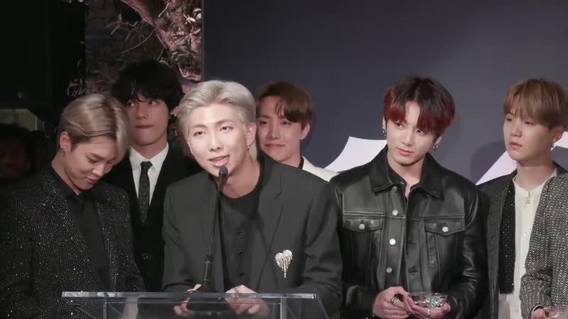 .@BTS_twt promises new music on the way in group of the year acceptance speech (Watch) t.co/IEdkk2ykLe t.co/UAz7