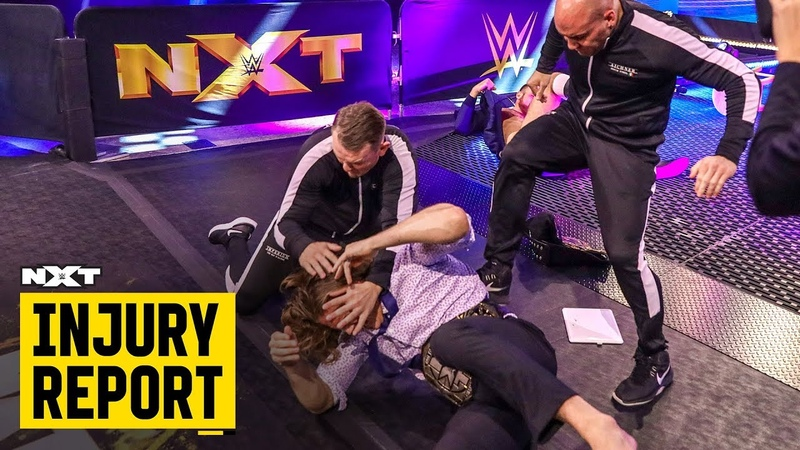 My1 Riddle battered and bruised by Imperium NXT Injury Report April 30 2020