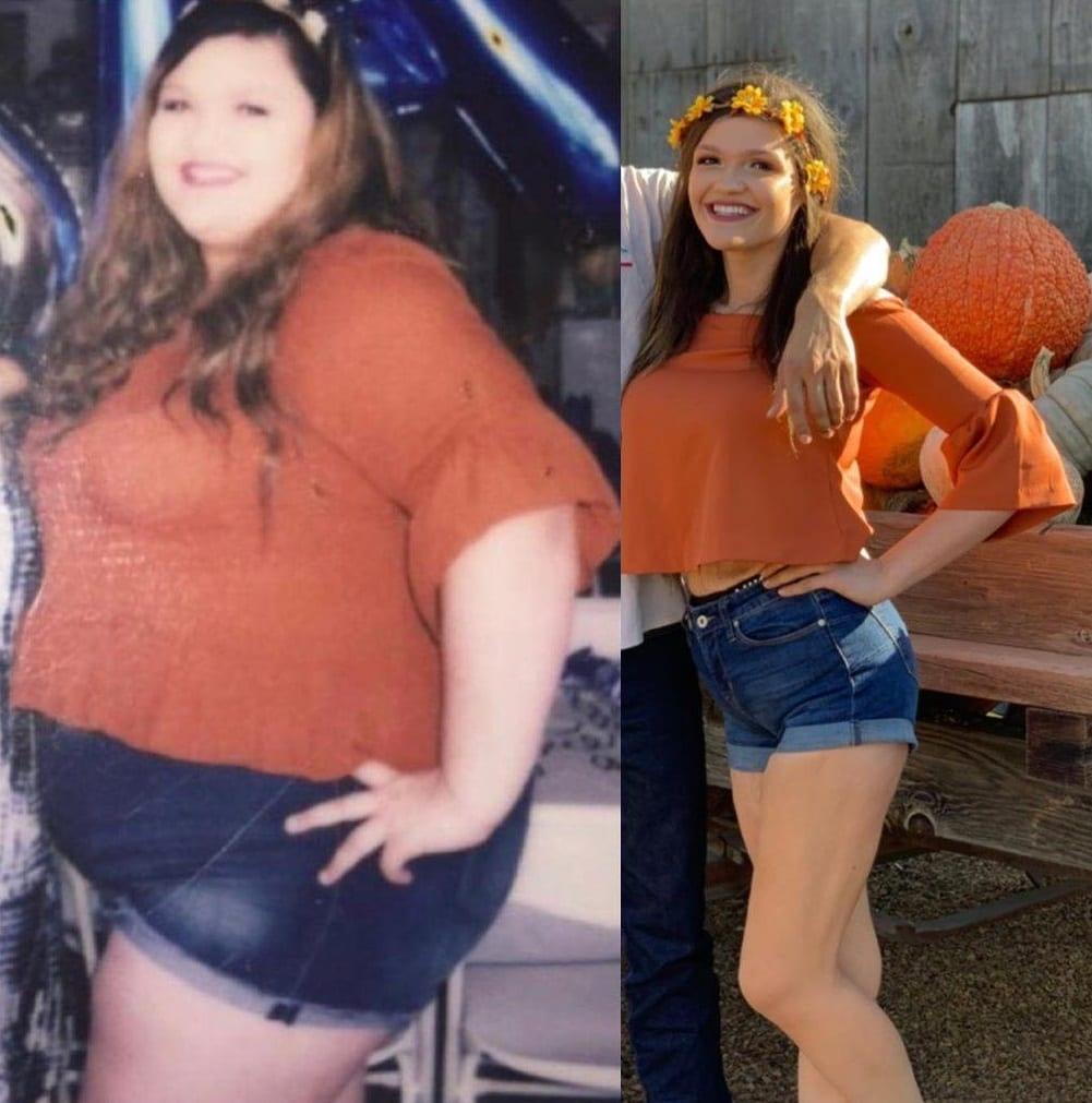 Американка похудела больше, чем в два раза, и воссоздала старое фото, чтобы показать всем, как она изменилась