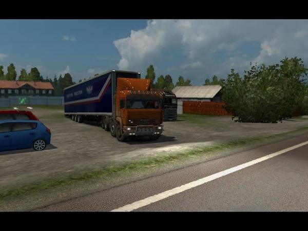 Euro Truck Simulator 2 едем по Суровой России на Камазе через всю карту!)2