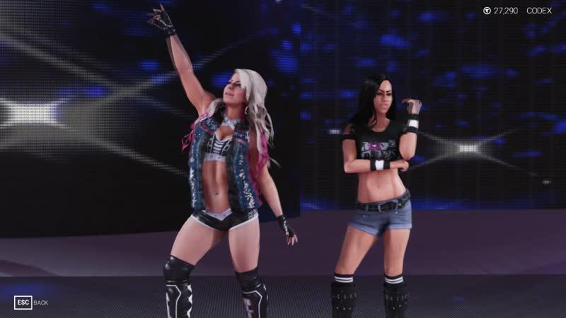 Alexa Bliss AJ Lee Tag Entrance (Queens of ECW)