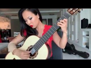 Thu Le plays El Choclo, arr. Roland Dyens, on Alma Guitar