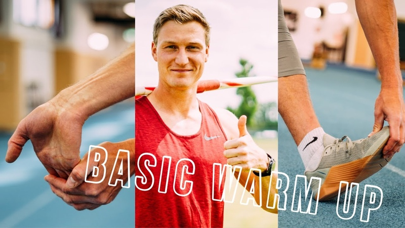 How to throw the javelin Warm up for beginners