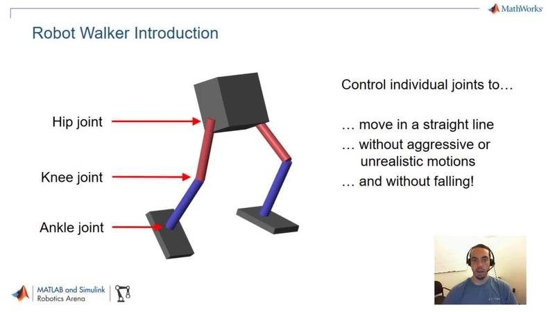 Walking Robots Part 1 Modeling and Simulation MATLAB and Simulink Robotics