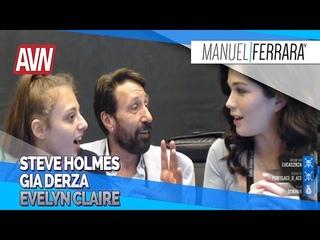 STEVE HOLMES, GIA DERZA et EVELYN CLAIRE - AVN Expo 2020 avec Benzaie