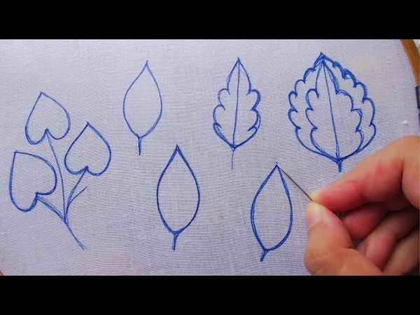Hand embroidery different types leaf embroidery in one video