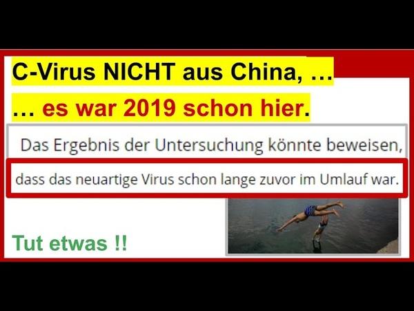 Corona Virus kam NICHT aus China Es war schon 2019 in Barcelona Das berichten einige Medien