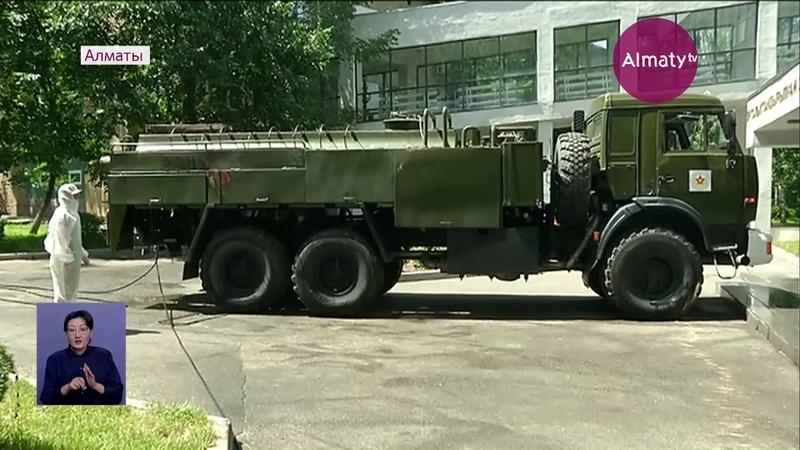 Алматыда әскерилер залалсыздандыру жұмыстарын қайта бастады (29.05.20)