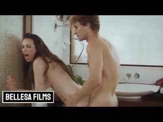 Casey Calvert - Bellesa Films Series: Small tits brunette gets fucked in the bathroom (2020) Blowjob, Deep Throat, Cumshot