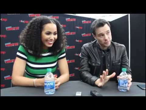 NYCC 2019 CHARMED Roundtable Interview w Madeleine Mantock Rupert Evans