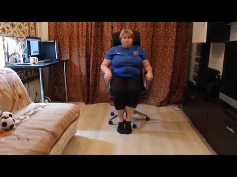 Упражнения на стуле для ног