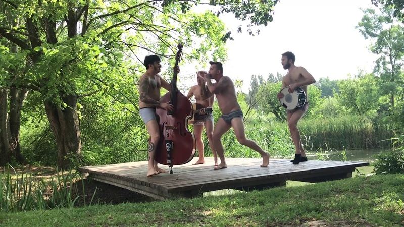 Crazy Hungarian Rockabilly Band Playing Naked in the summer