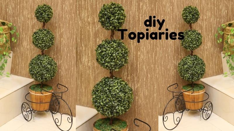DIY ARTIFICIAL TOPIARY GRASS HOME DECOR diy grass ball dollar tree decor diy
