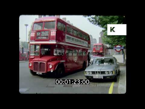 1980s Knightsbridge London in HD from 35mm