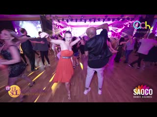 Gormack Dione and Aleksandra Shatalova Salsa Dancing at El Sol Warsaw Salsa Festival 2019, Saturday