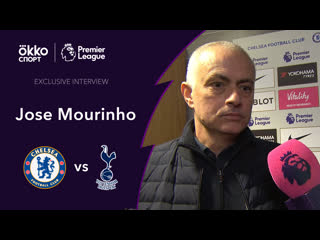 Exclusive interview with Jose Mourinho. Chelsea - Tottenham.