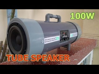 DIY 100W Bluetooth Tube Speaker with PVC Pipe || Ultra Bass Boombox