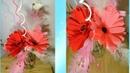 Paper flowers. Букет на 8 марта из гофрированной бумаги. Цветы своими руками. Герберы