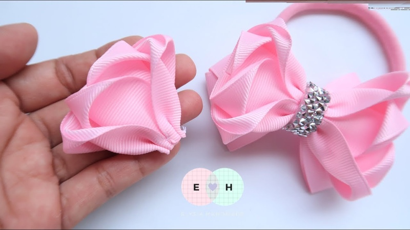 Amazing Ribbon Bow Hand Embroidery Works Ribbon Tricks Easy Making Tutorial 102
