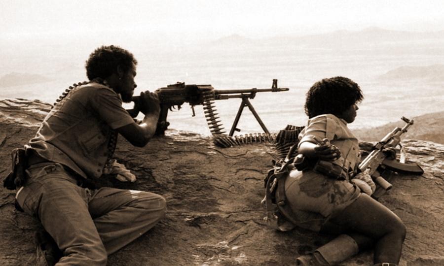 Бойцы Народного фронта освобождения Эритреи
