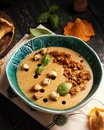 Крем-суп с лисичками
