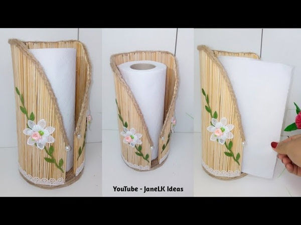 DIY Porta Papel toalla de cocina útil y Decorativo |Diy Paper Towel Holder |Porta Papel Toalha diy