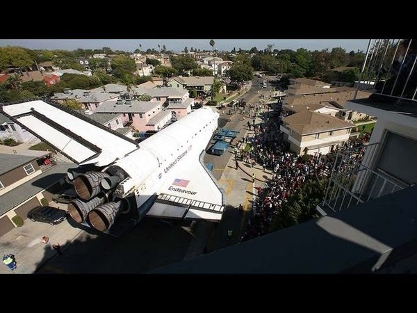 Space shuttle Endeavour's trek across LA Timelapse