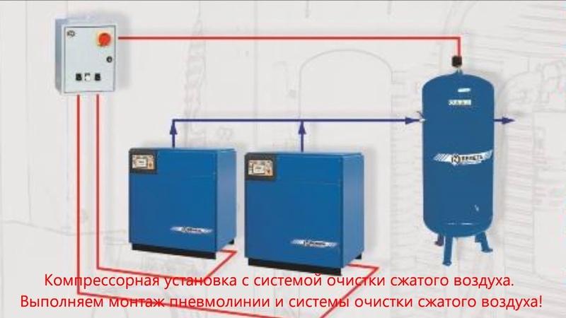 Компрессор Ремеза ВК 50 Screw compressor Remeza VK 50