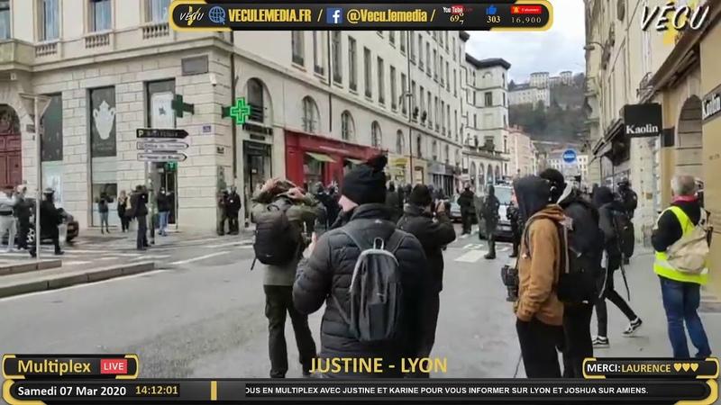 Multiplex Appels nationaux sur Lyon et Amiens Citoyens reporters Karine Jusine et Joshua