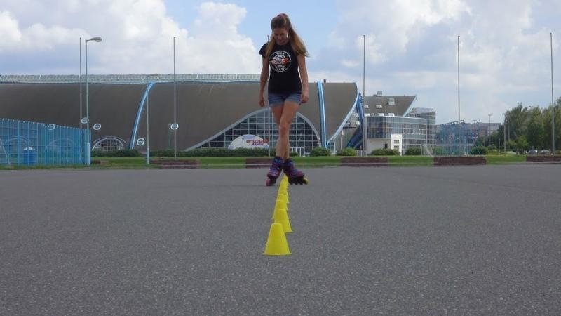 Как катается одна из лучших спортсменок во фристайл-слаломе