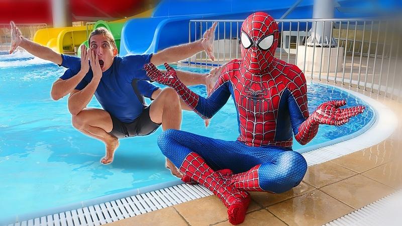 Игры онлайн Новый Человек Паук Где настоящий Супергерой Смешное видео шоу Акватим