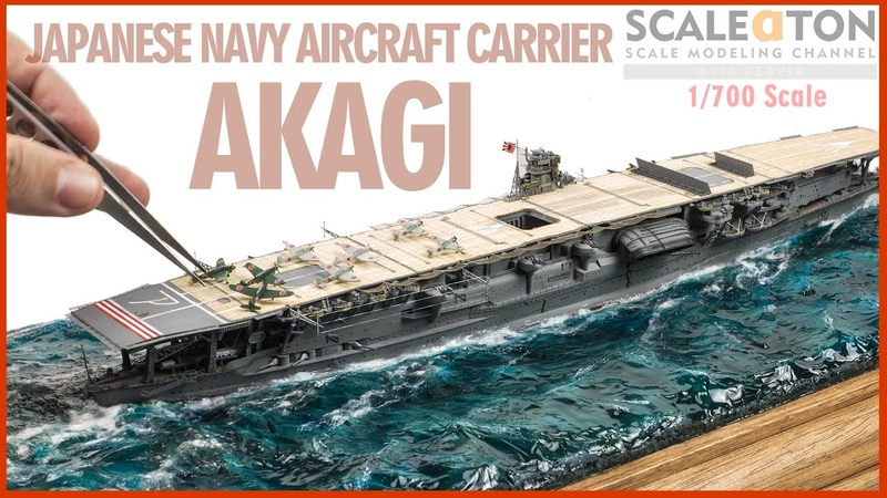 Japanese Navy Aircraft Carrier Akagi Fujimi 1 700 Scale Model