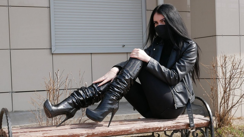 Nana's Gianmarco Lorenzi platform stiletto high heels patent leather boots Size EU 36 US 6 5