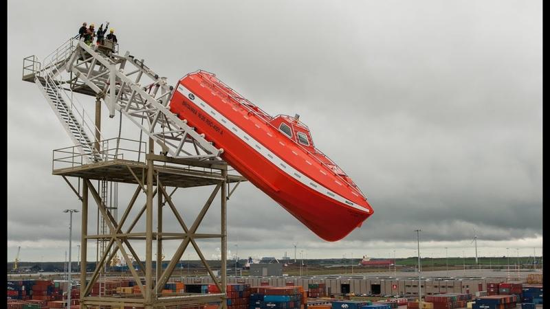 Verhoef FL50 ULS WC Aluminium (retrofit) Freefall Lifeboat - Droptest