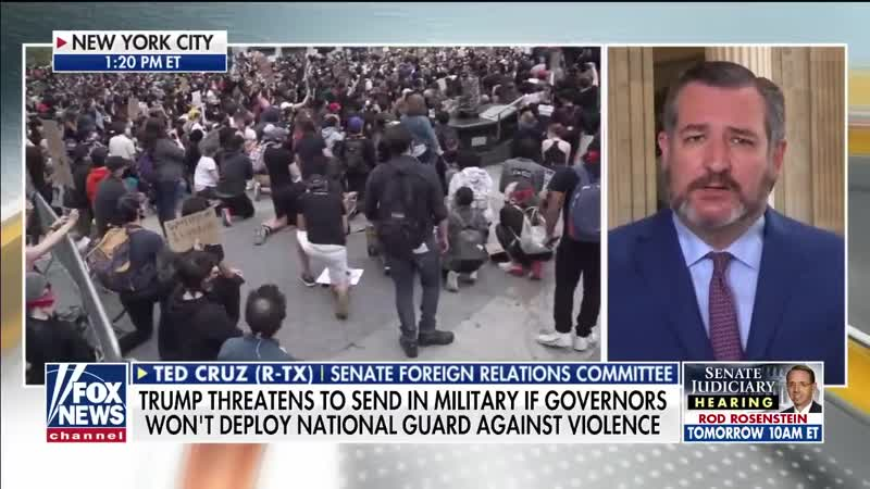 20 06 02 Ted Cruz We need systematic law enforcement targeting antifa