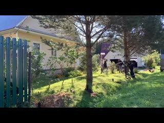 Монтаж винтовых свай для забора и откатных ворот (HD)