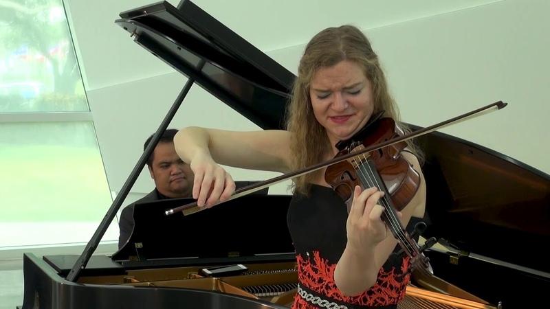 CONTRASTDUO Yasa Poletaeva violin and Darren Matias piano performing Elegy by Emerson Eads
