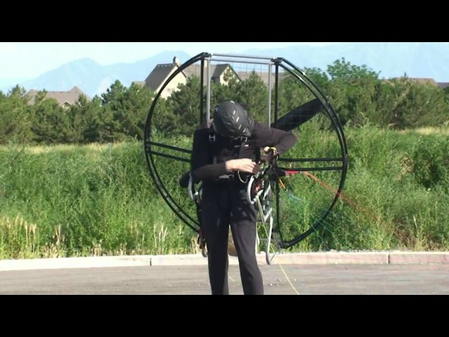 World's Easiest Paramotor Powered Paragliding Paraglider Paramotoring Equipment Flat Top