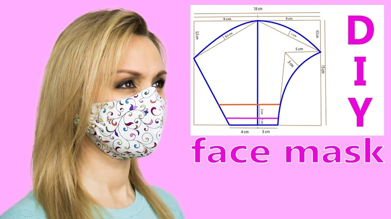 😷 Cloth Face Mask Diy 😷 Face Mask Pattern | Face Mask Sewing Tutorial
