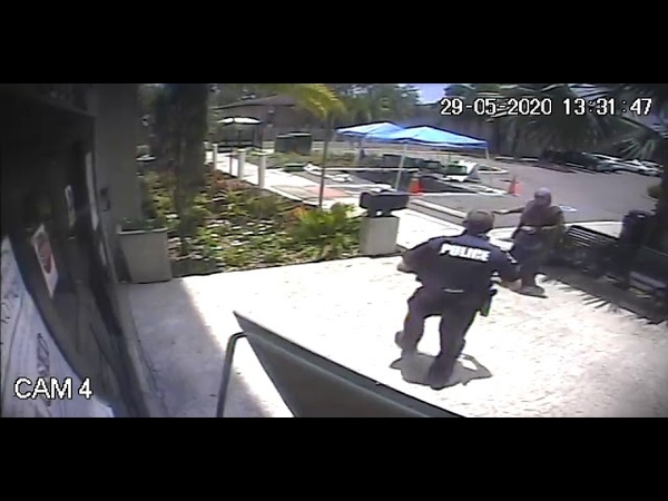 WATCH Woman attacks police officer outside Temple Terrace City Hall