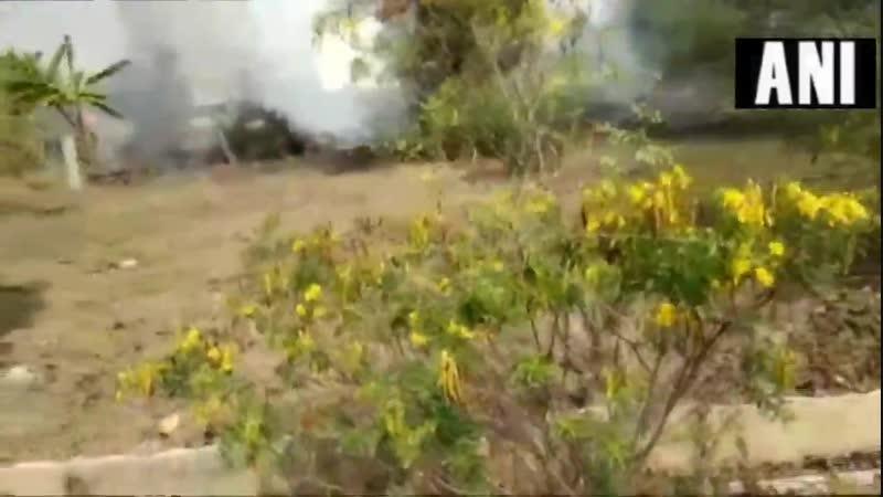 Внебе Индии столкнулись двавоенных самолета