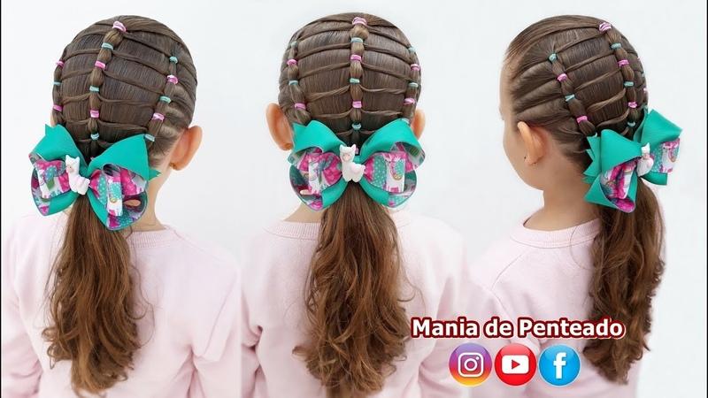 Penteado Infantil com Ligas e Amarração Easy Hairstyle with Rubber Band for Girls🌵🦙🥰