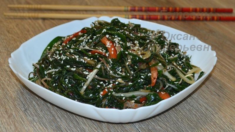 Салат из лука джусая по-корейски(Ёмди-ча). Korean chives salad (yondi).