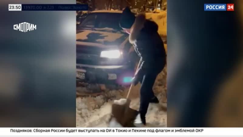 Московский подросток делает деньги из снега