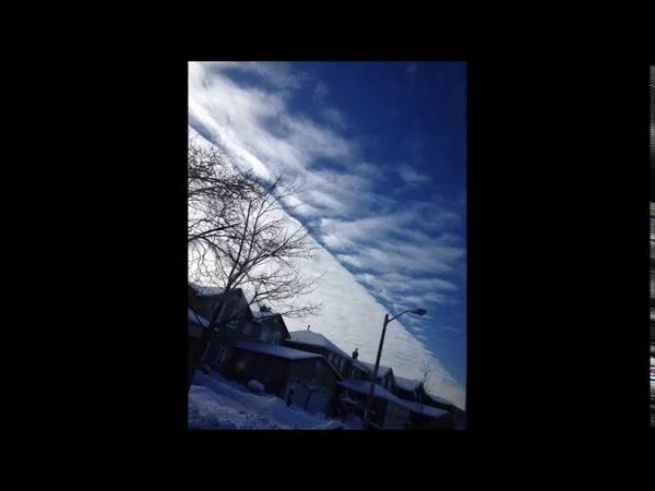 Qui a déjà vu un nuage carré Chemtrails et HAARP